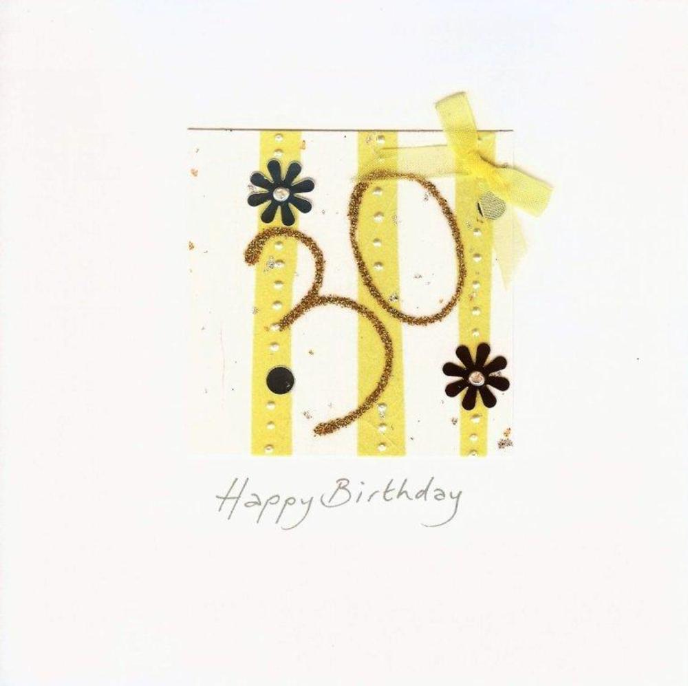 Handmade Card Heaven 30th Birthday Card