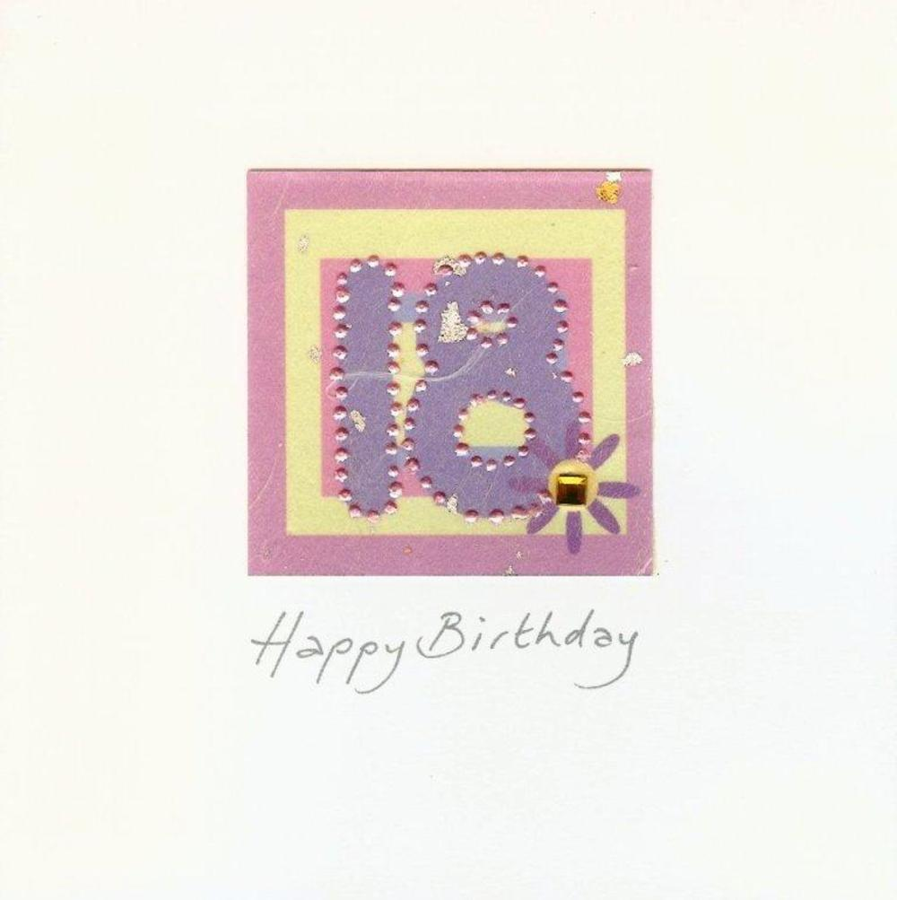 Handmade Card Heaven 18th Birthday Card