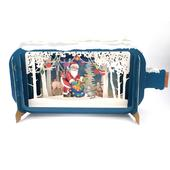 Message In A Bottle Santa's Sack Pop Up Christmas Greeting Card