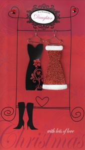 Daughter Large Embellished Christmas Card Nice Message