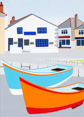 Innocent Art Boats Slipway Blank Greeting Card