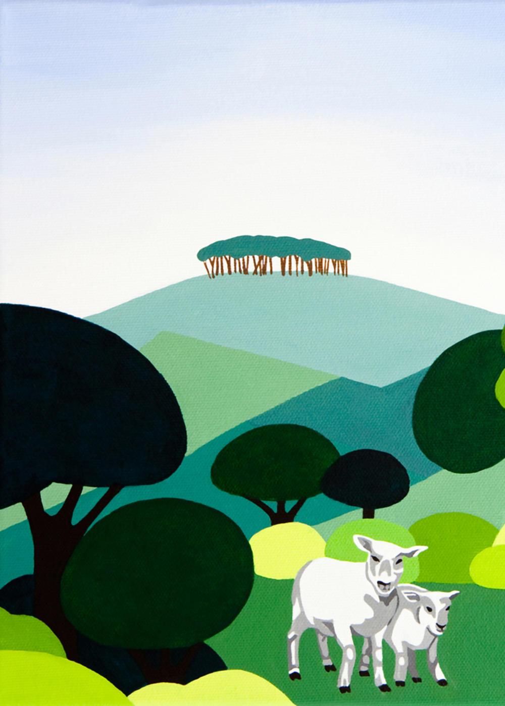 Innocent Art Sheep Blank Greeting Card