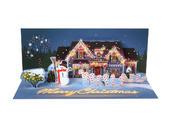 Xmas Decorations Panoramic Light-Up Pop-Up Christmas Greeting Card