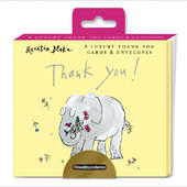 Pack Of 8 Thank You Cards Quentin Blake Elephant