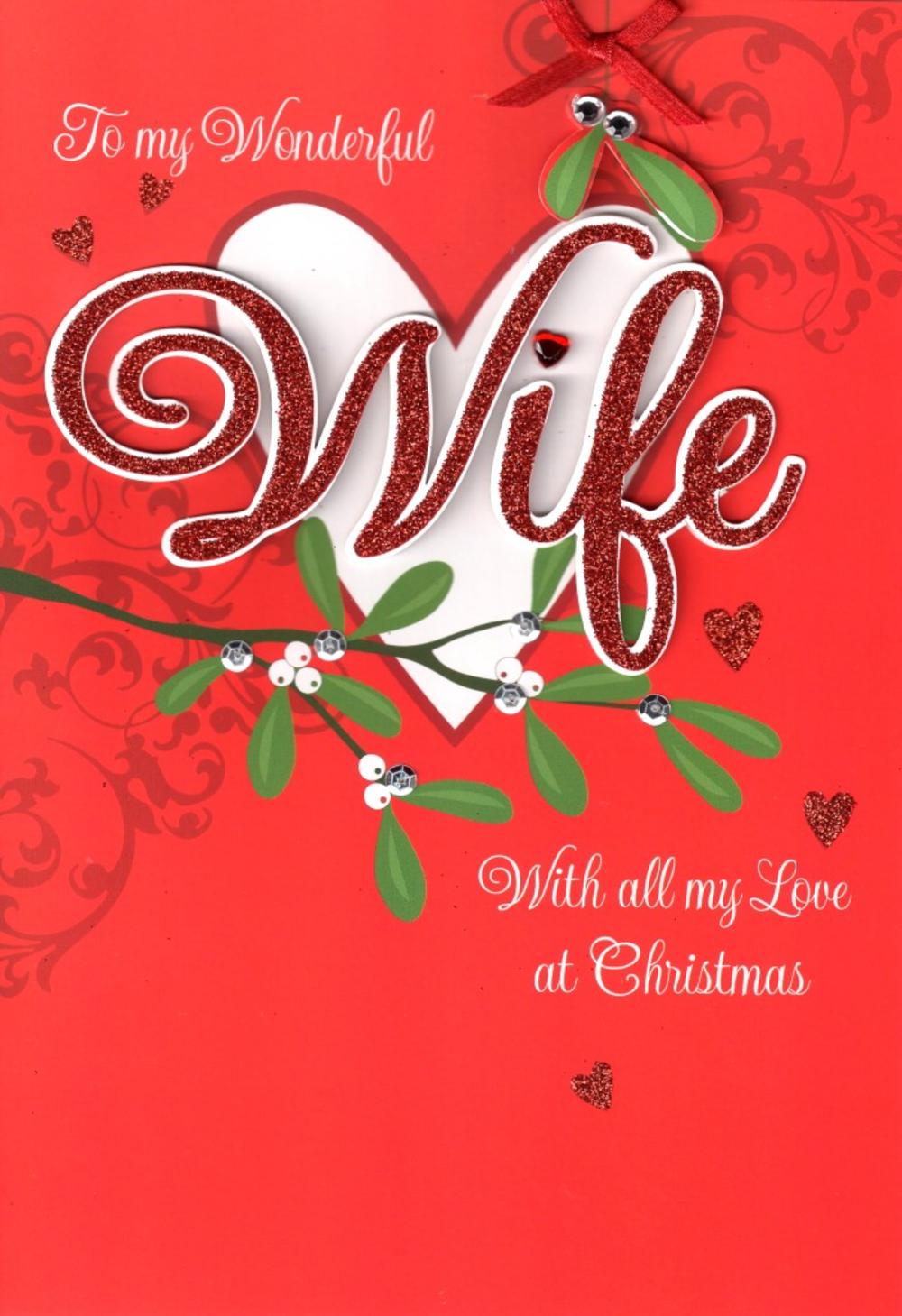 Wife luxury 3d glitter christmas card special relations family thumbnail 1 kristyandbryce Choice Image