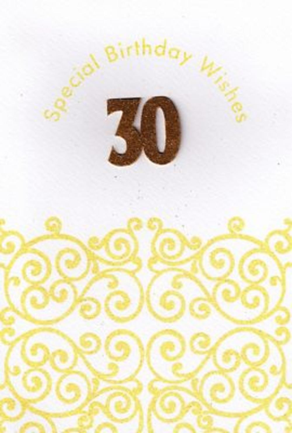 Handmade 30th Female Birthday Card