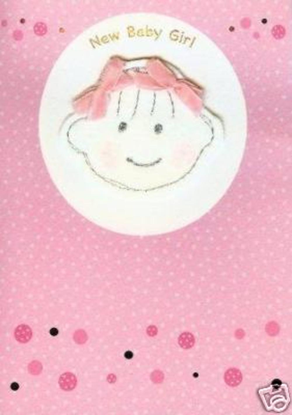 New Little Baby Girl Greeting Card