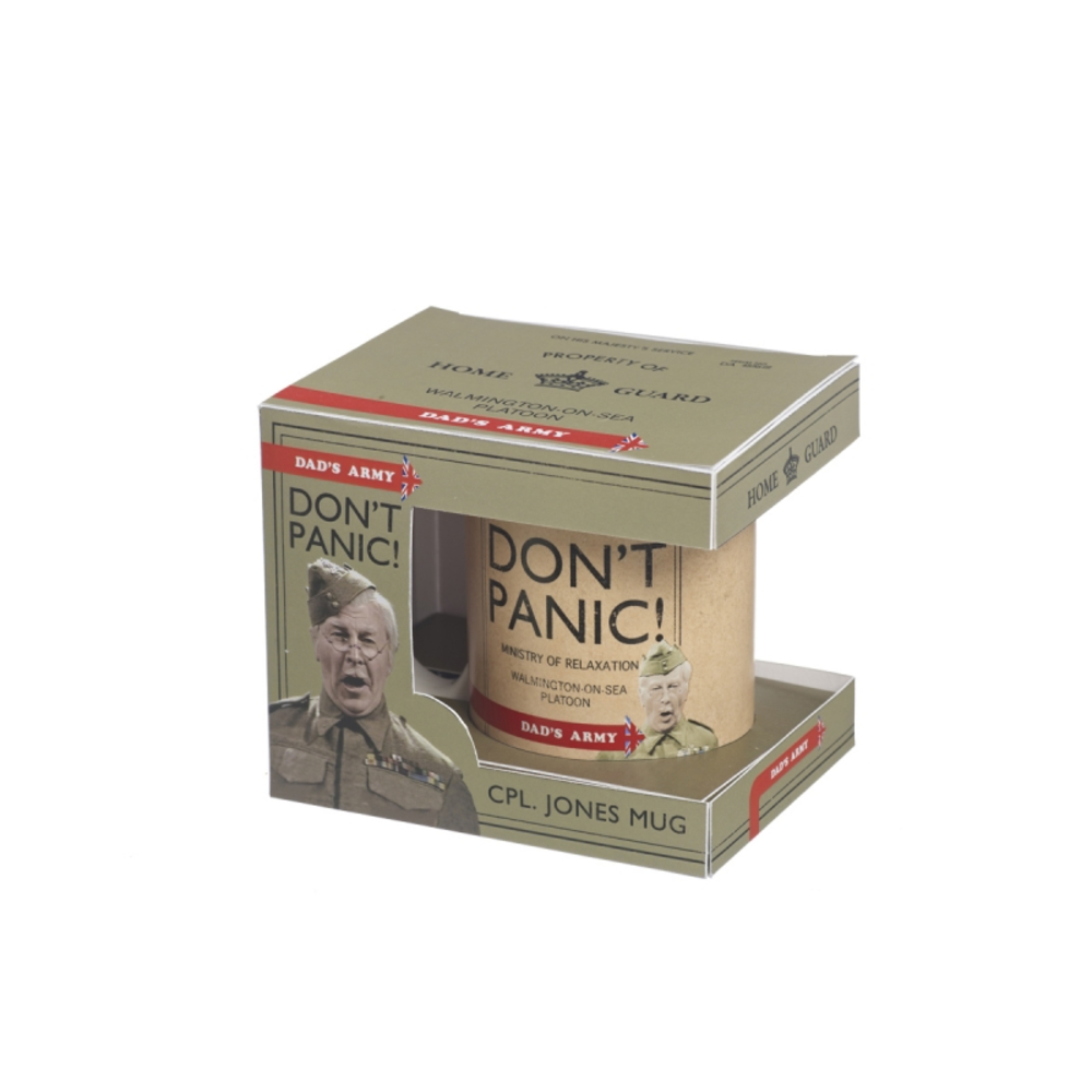 Dad's Army Don't Panic Ceramic Mug In Gift Box