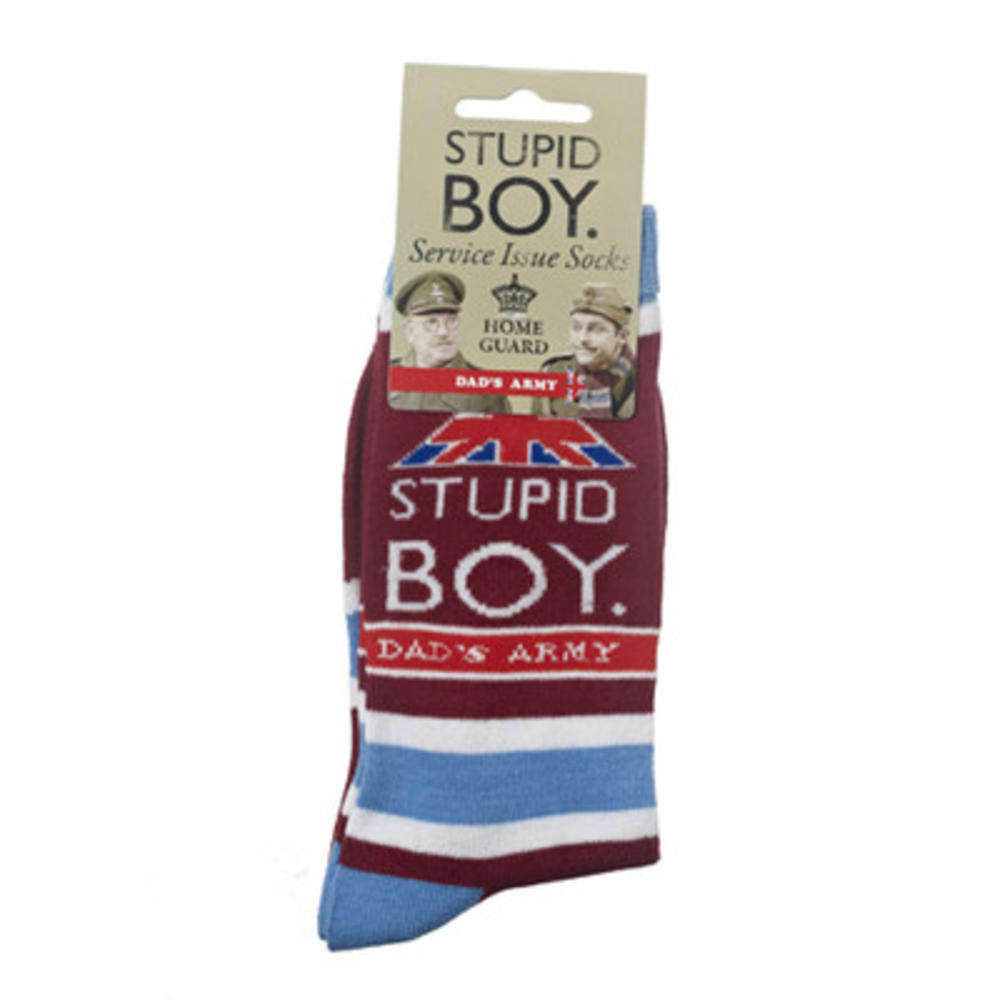Dad's Army Pike Stupid Boy Socks Mens Size 8-12