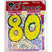 80th Birthday Foil Party Banner