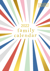 Caroline Gardner 2022 Rainbow Family Planner Calendar
