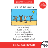 Edward Monkton 2022 Planner Calendar With Stickers