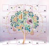 Partridge In A Pear Tree Advent Calendar Christmas Card