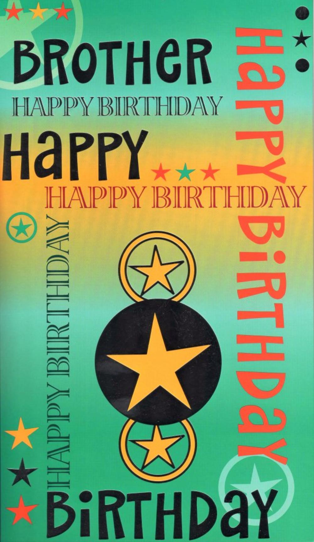 Large Happy Birthday Brother Card