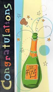 Large Champagne Congratulations Card