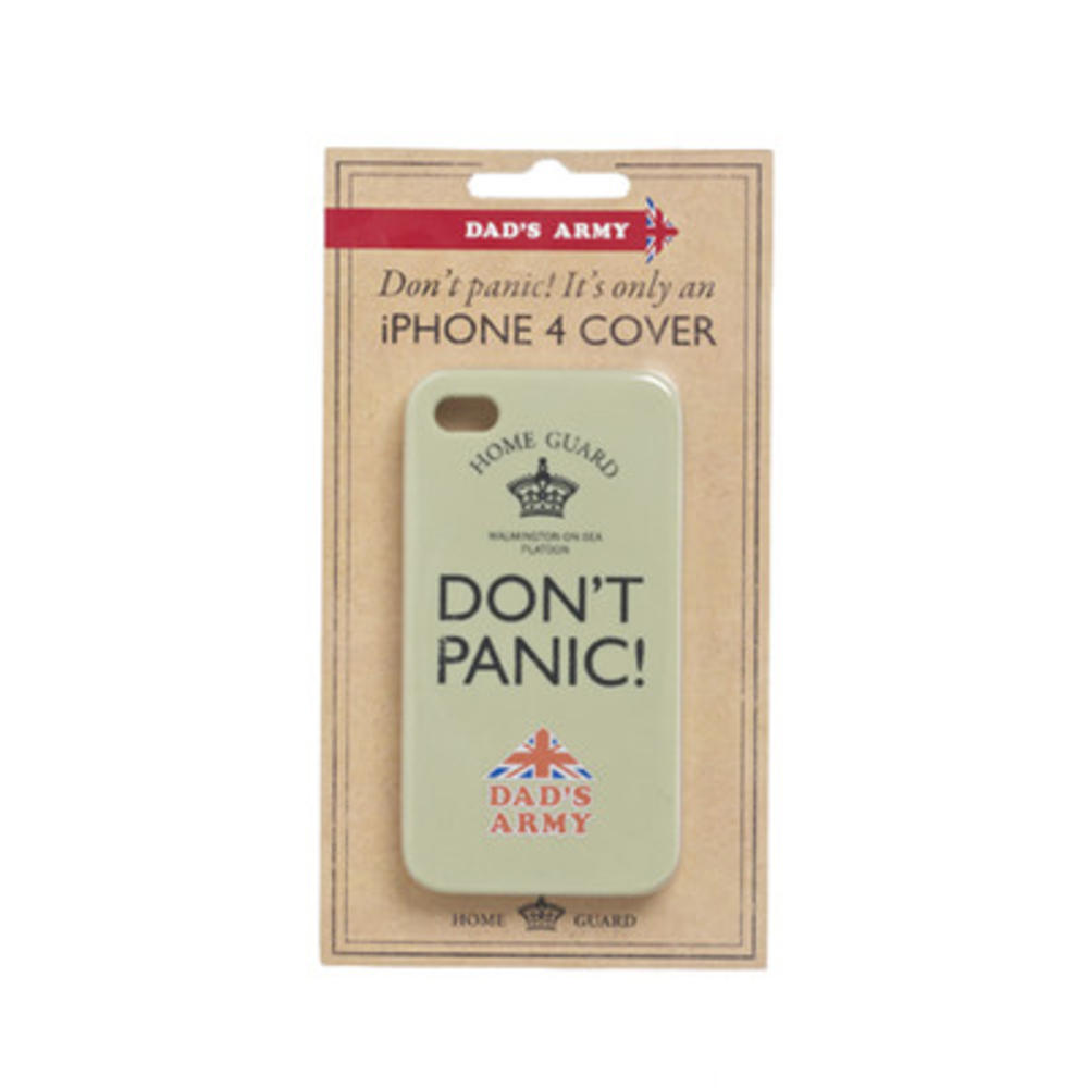 Dad's Army Don't Panic! Iphone 4 Cover Case