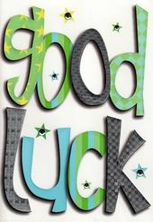Good Luck In a Word Greeting Card