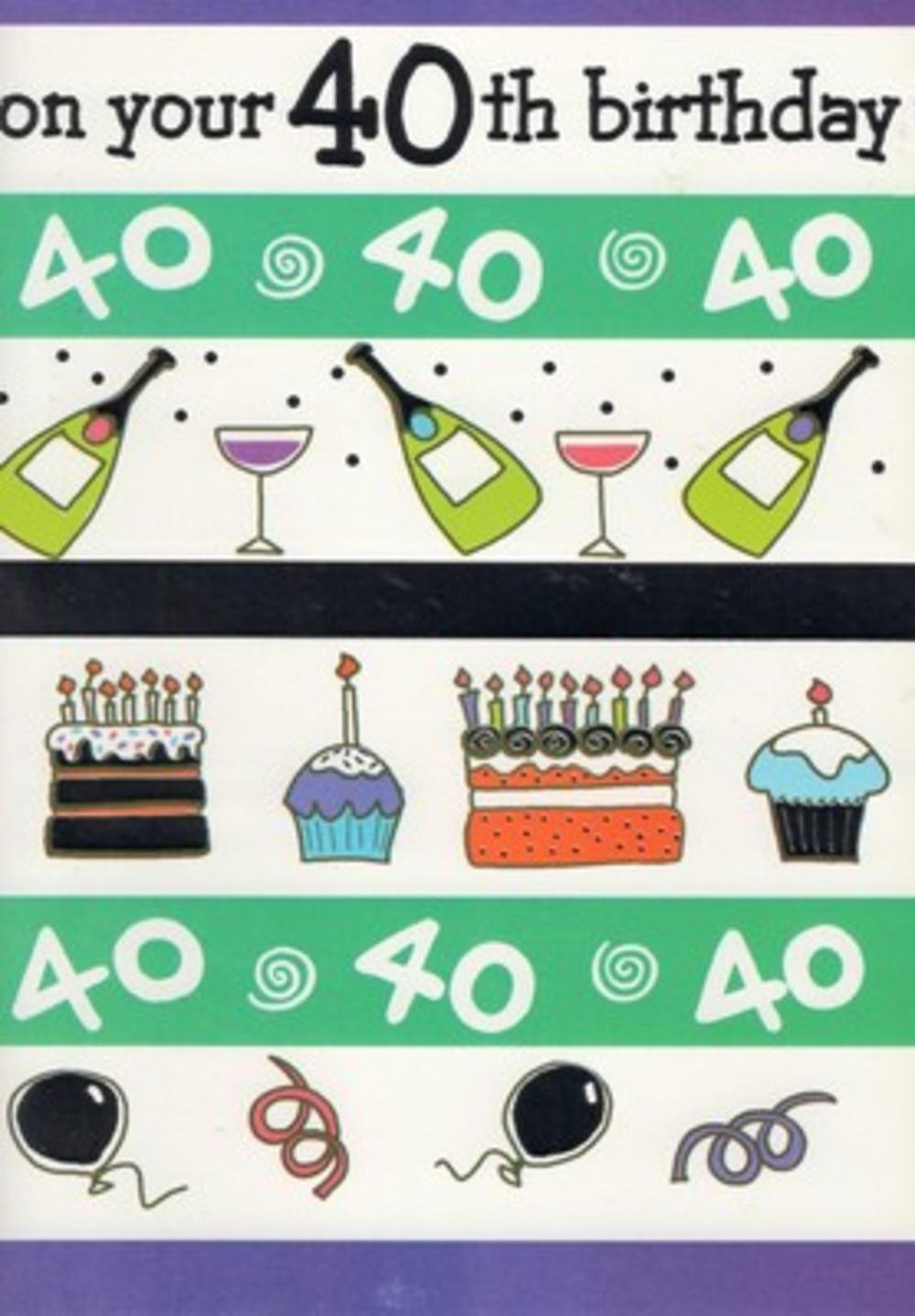Special 40th Birthday Card