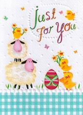 Just For You Glitter Finished Easter Greeting Card