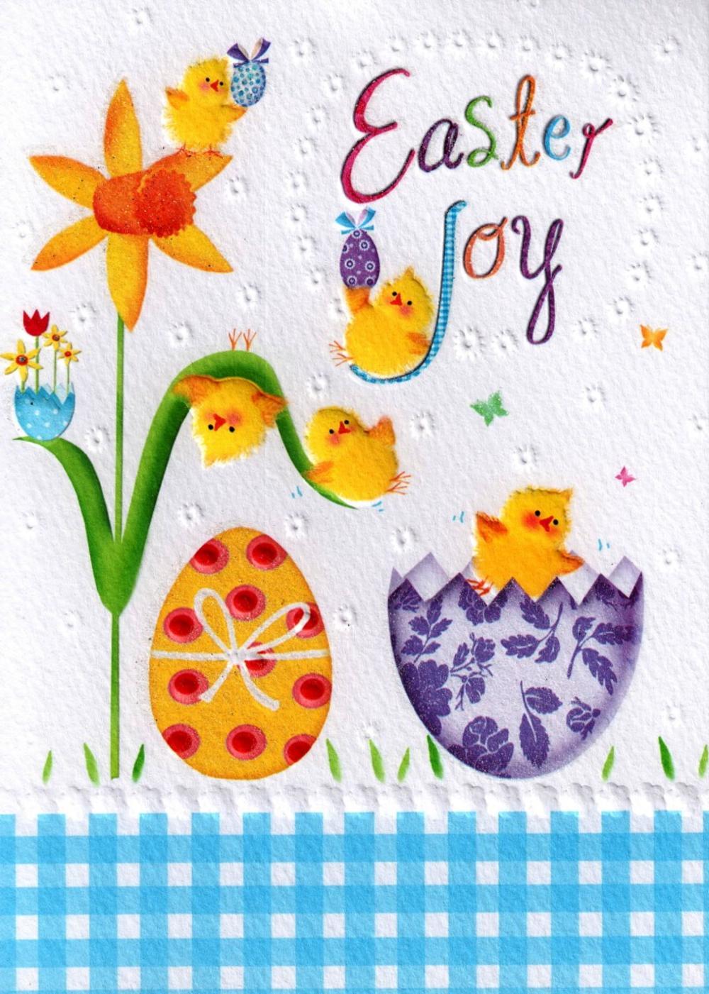 Easter Joy Glitter Finished Greeting Card