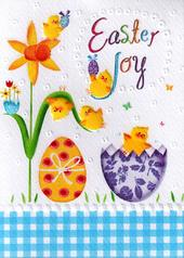 Easter Joy Glitter Finished Greeting Card