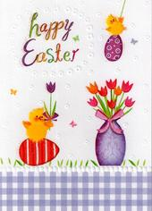 Happy Easter Glitter Finished Greeting Card