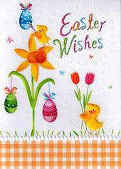 Easter Wishes Glitter Finished Greeting Card