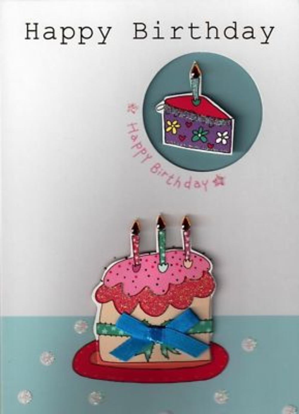 Gorgeous 3D Handcrafted Birthday Cards Cake Cakes Card