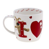 Boofle 'I Love You' China Mug In Gift Box