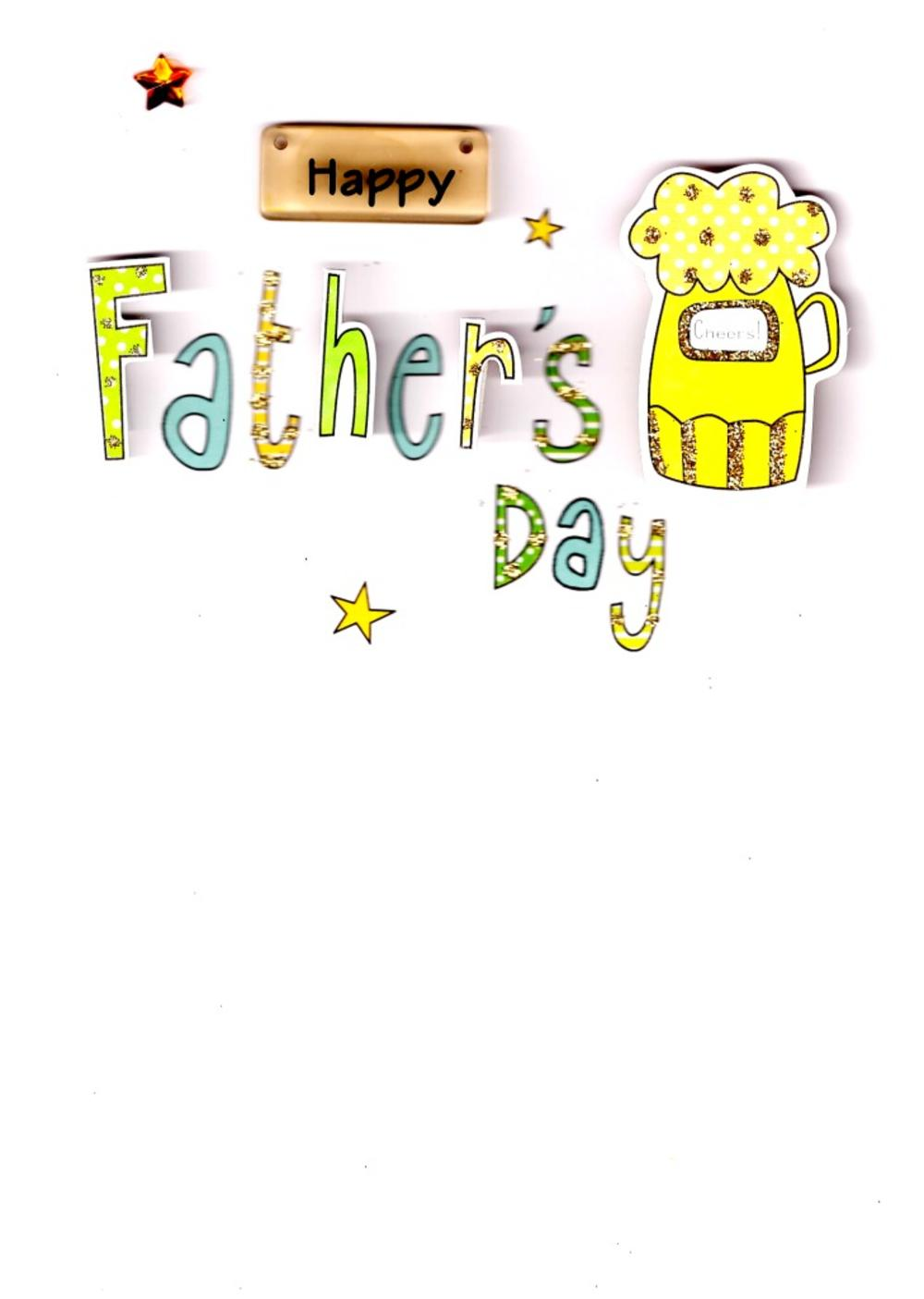 Cheers Beer Happy Father's Day Card