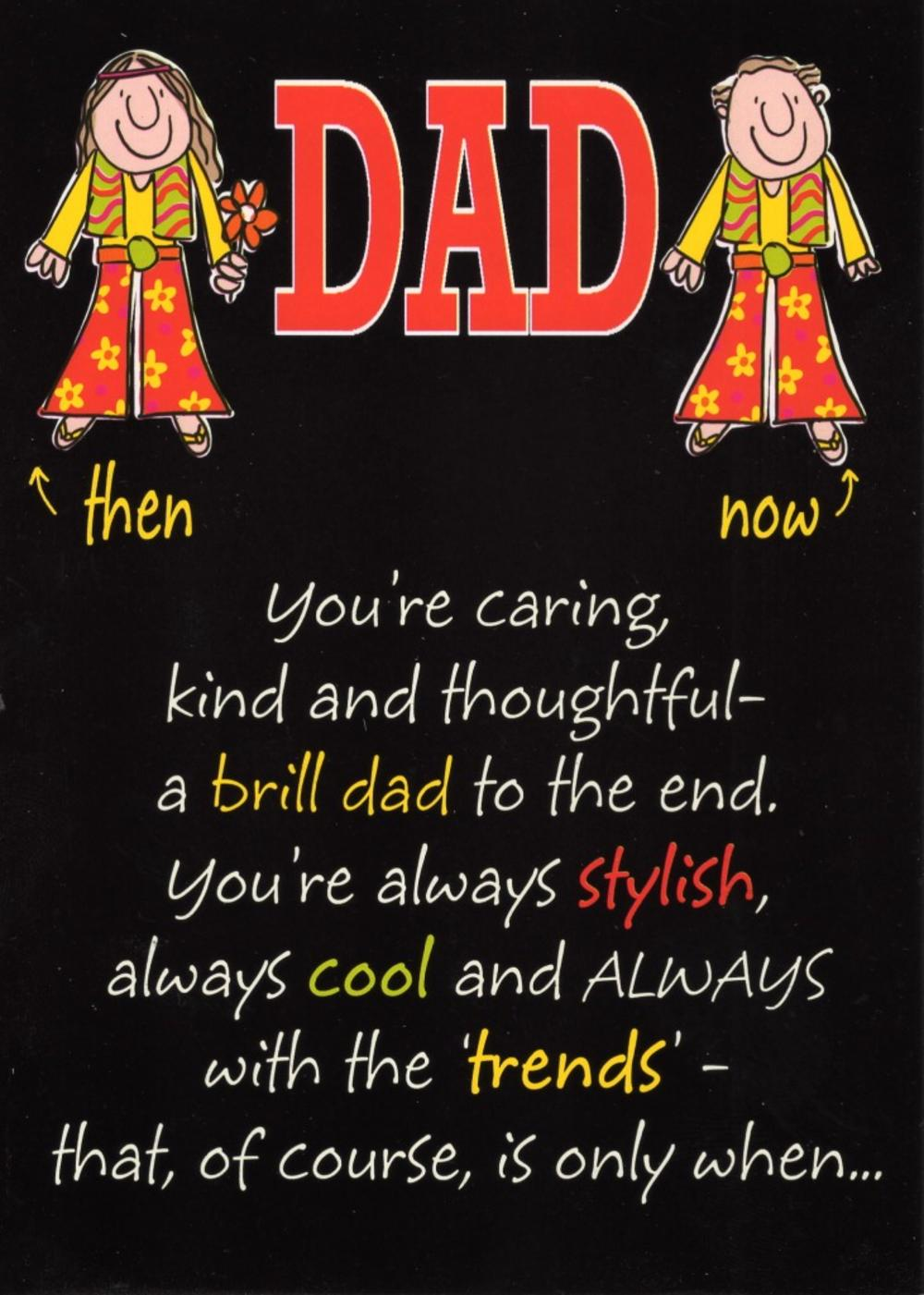 Trendy Groovy Dad Funny Father's Day Card