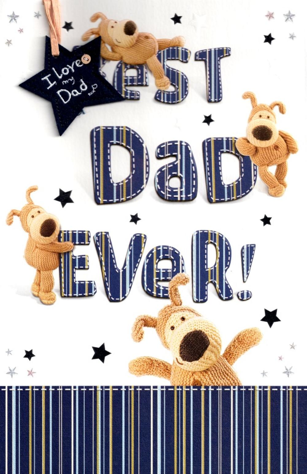 Boofle Best Dad Ever Fathers Day Card Cards Love Kates