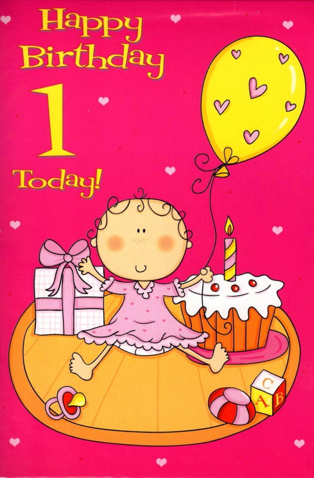 1 Today Special Age Baby 1st Birthday Card