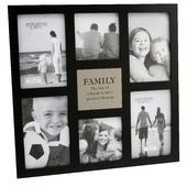Family Large Black Multi Photo Frame