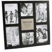 Friends Large Black Collage Multi Photo Frame