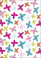 Pretty Butterfly Wrapping Paper Set