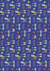 Blue Celebrate Wrapping Paper Set