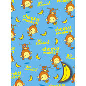 Cheeky Monkey Wrapping Paper Set
