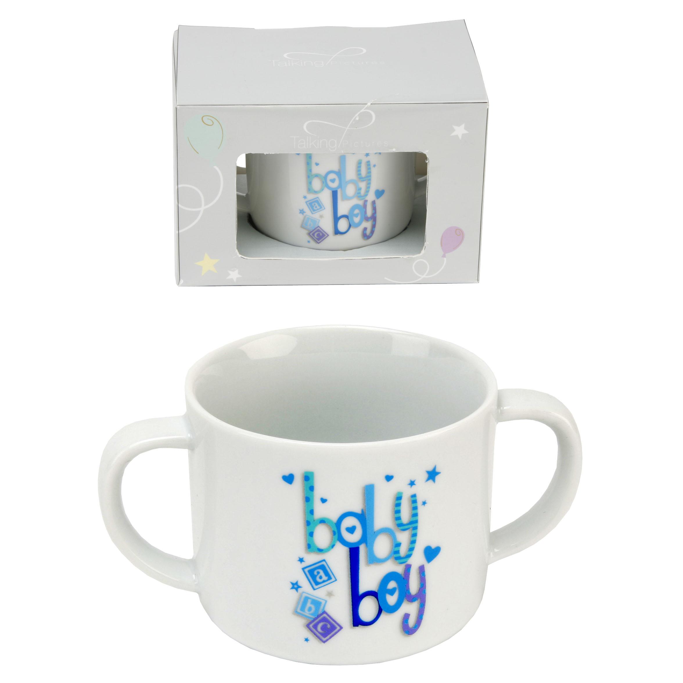 Twin Handled New Baby Boy Mug In Box Gifts Love Kates