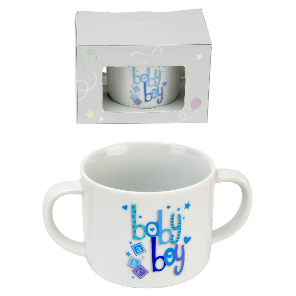 Twin Handled New Baby Boy Mug In Box