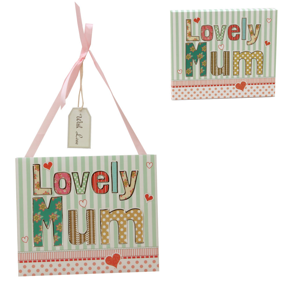 Laura Darrington Lovely Mum Wall Plaque In A Box