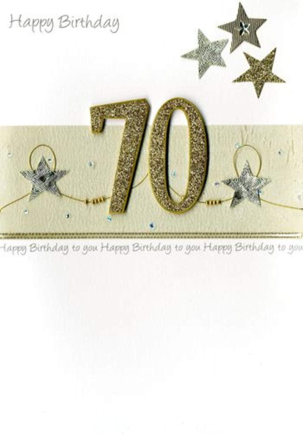 Large Second Nature Luxury 70th Birthday Greeting Card