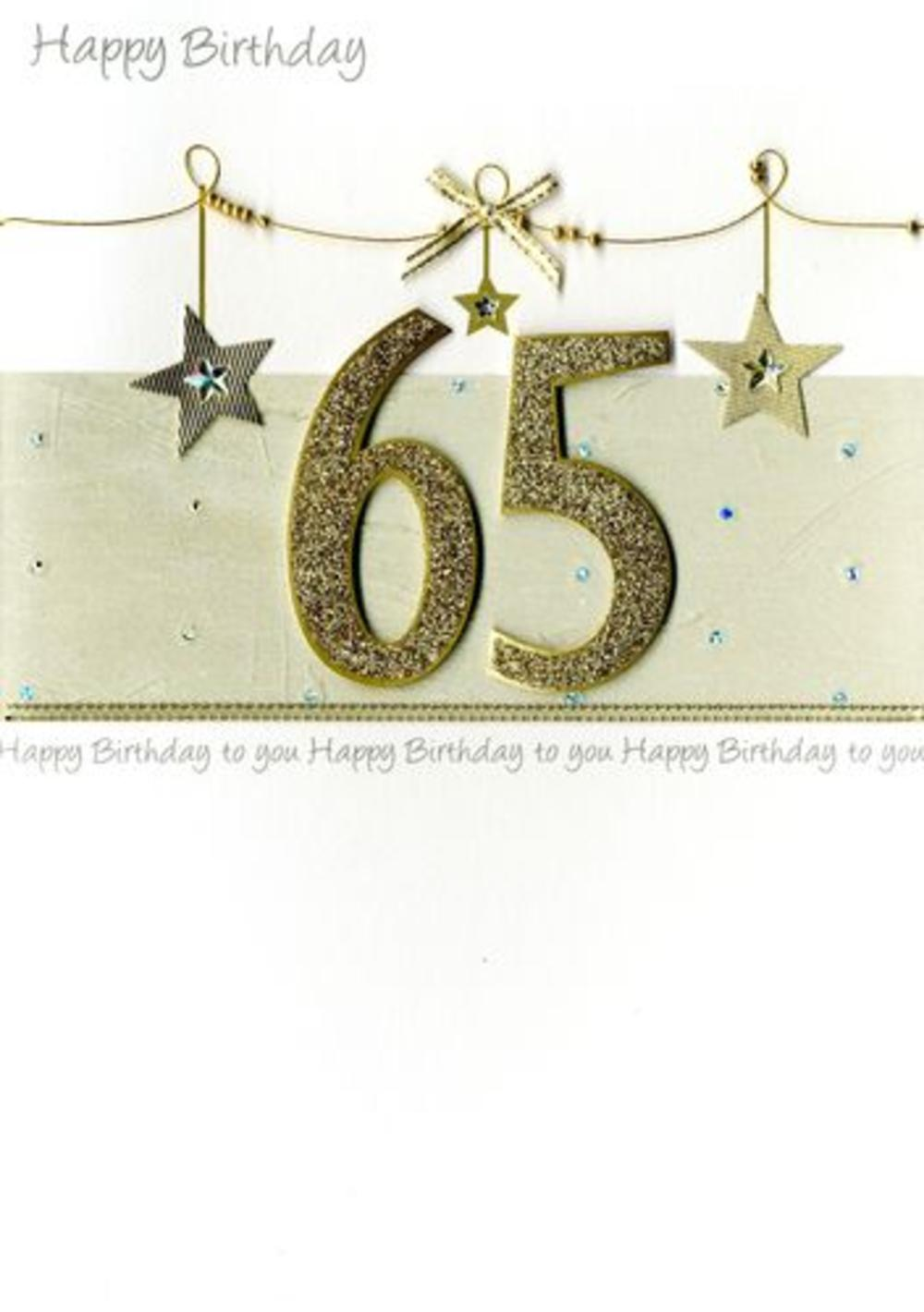 Large Second Nature Luxury 65th Birthday Greeting Card