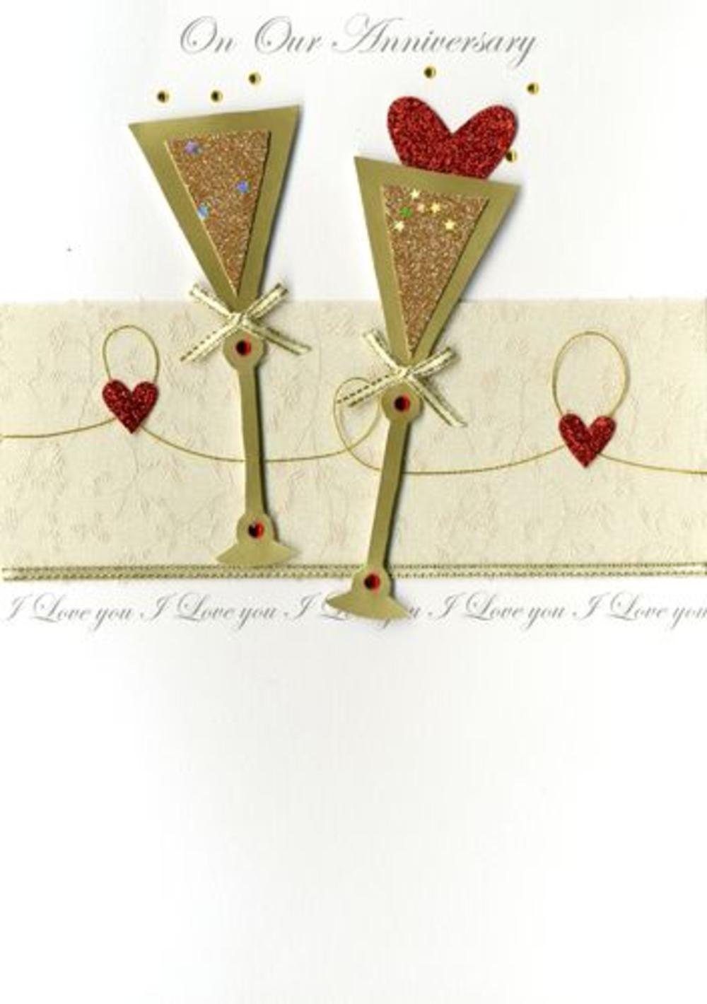 Large Second Nature Luxury On Our Anniversary Greeting Card