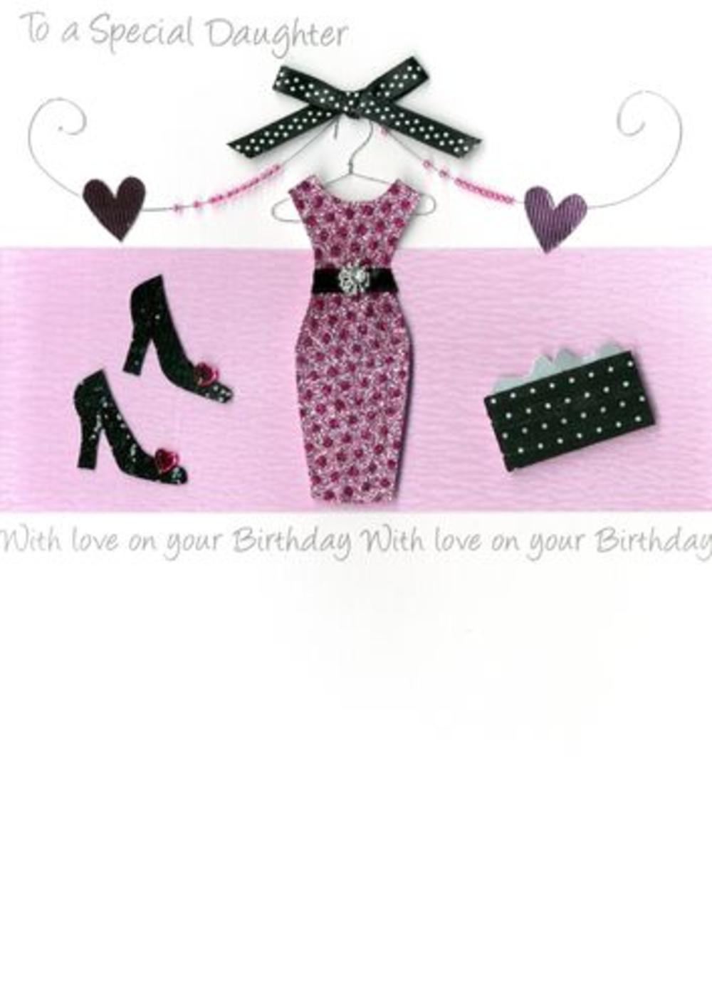 Large Luxury Special Daughter Birthday Greeting Card