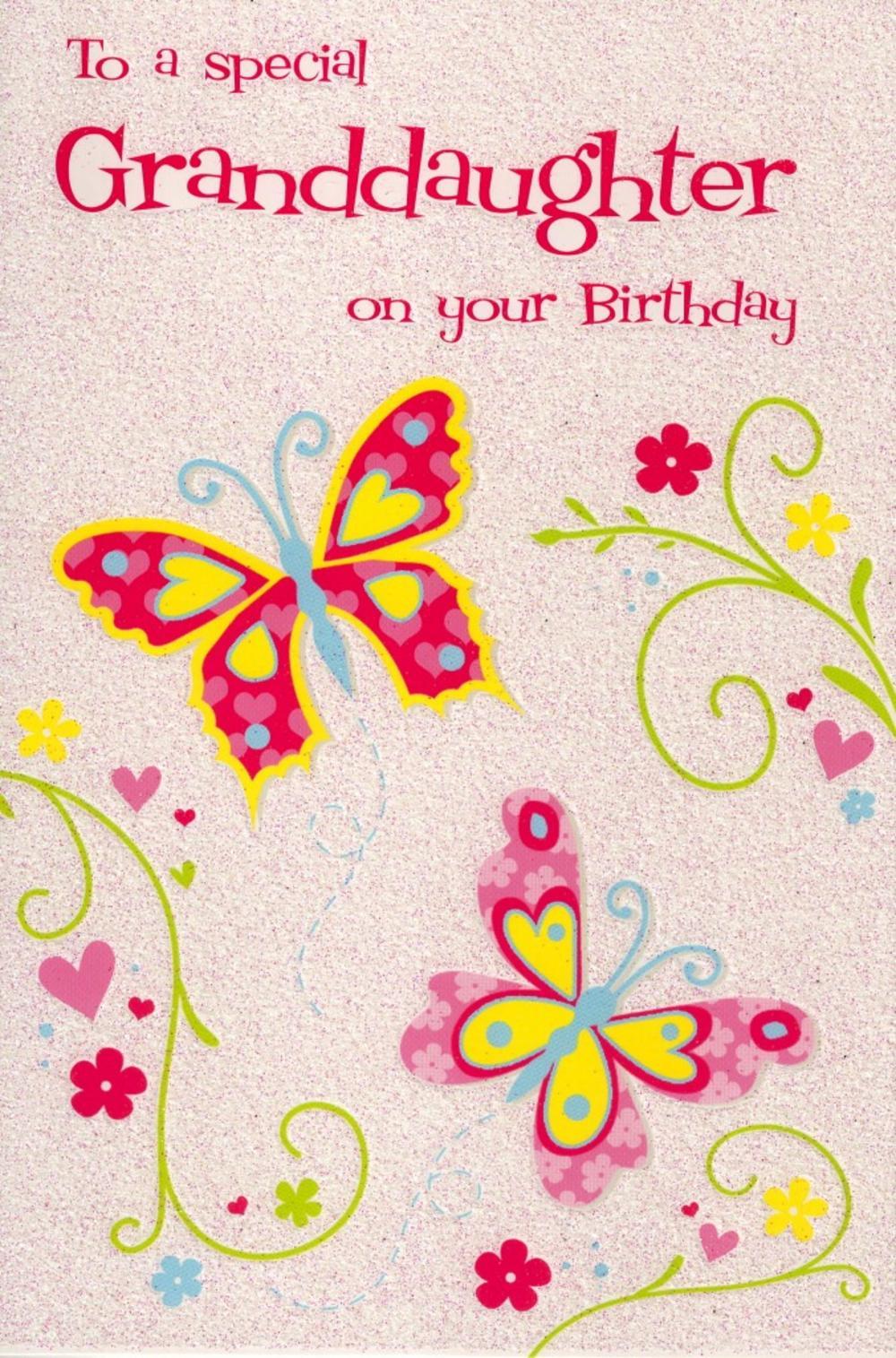 Granddaughter Birthday Greeting Card