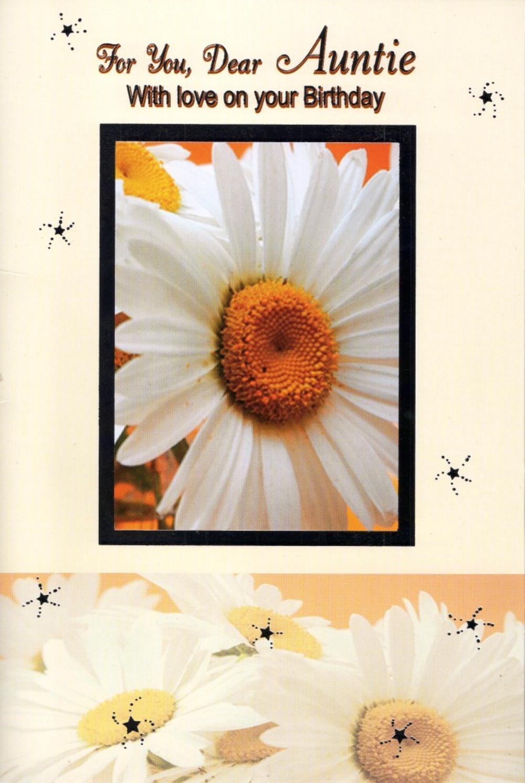 Auntie Pretty Birthday Card Greeting Card
