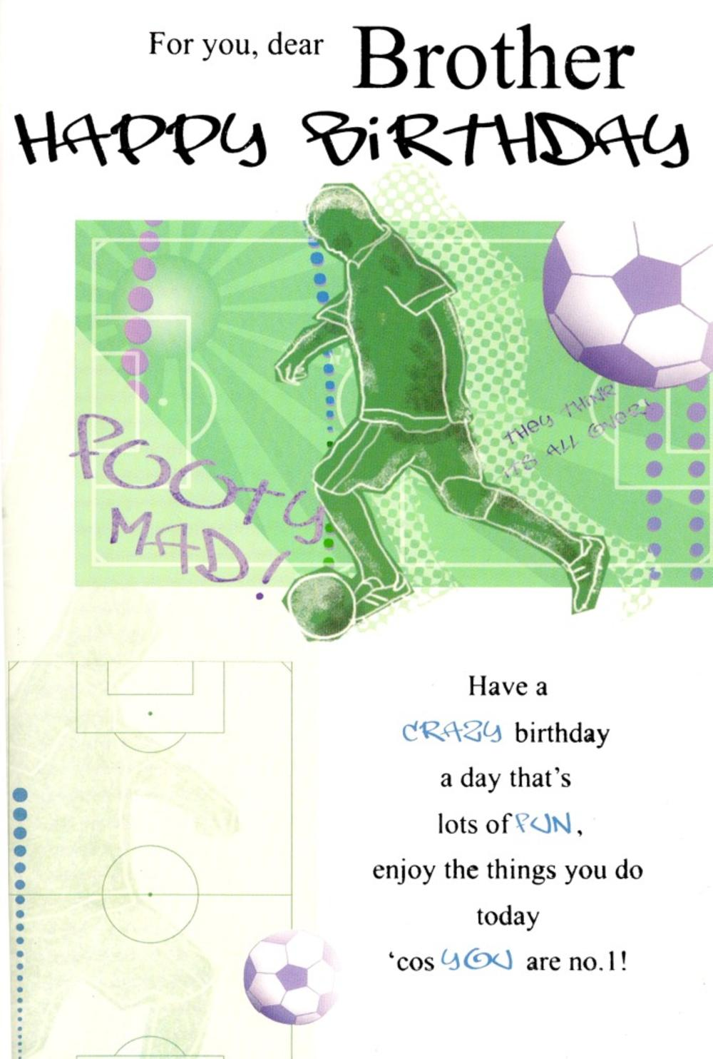 Brother Football Birthday Greeting Card