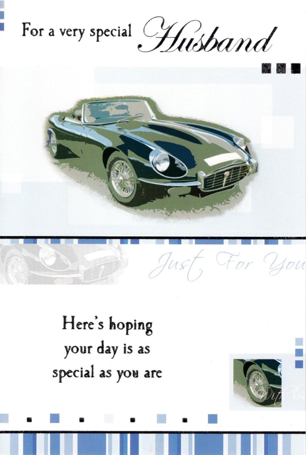 Husband Cars Birthday Greeting Card