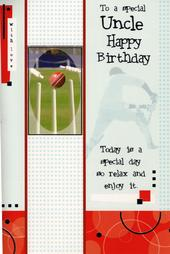 Uncle Cricket Birthday Greeting Card